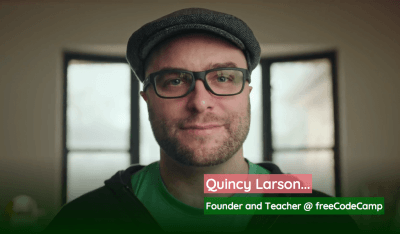 Quincy Larson, founder of Free Code Camp