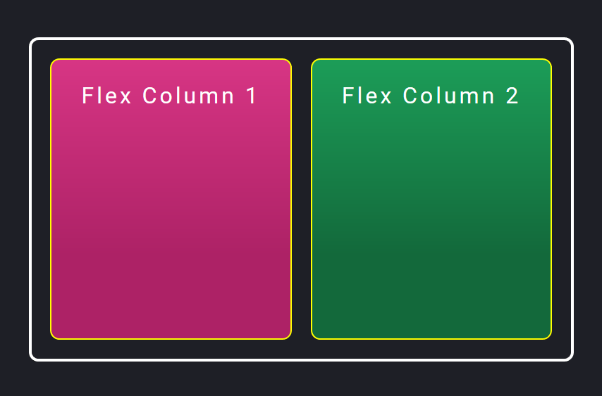 divs side by side using flexbox
